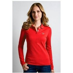 NWT LACOSTE 2 Button Pique Stretch Polo Top 38 6